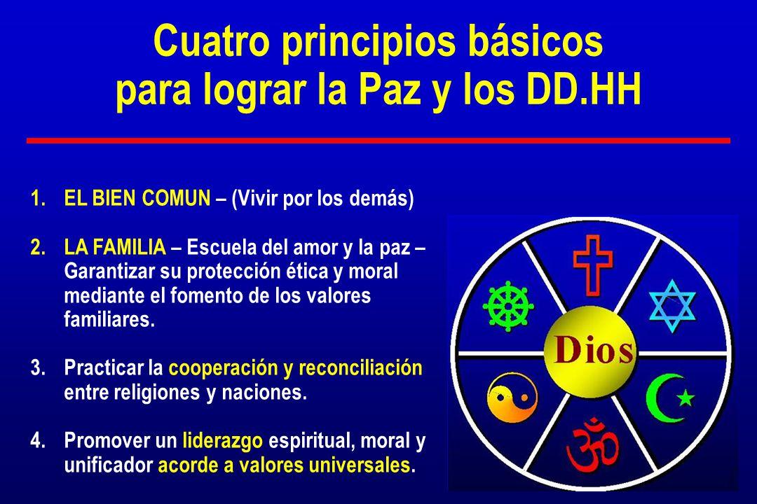 Cuatro principios básicos para lograr la Paz y los DD.HH
