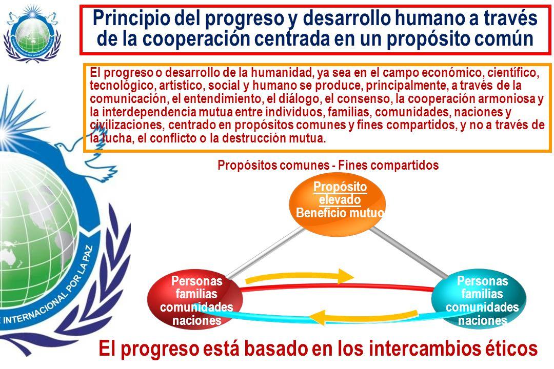 El progreso está basado en los intercambios éticos