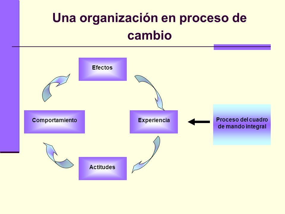 Una organización en proceso de cambio