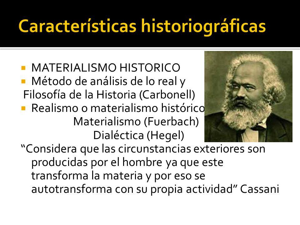 Características historiográficas