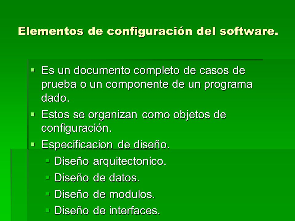 Gestion de la configuracion del software gcs scm ppt for Software de diseno arquitectonico