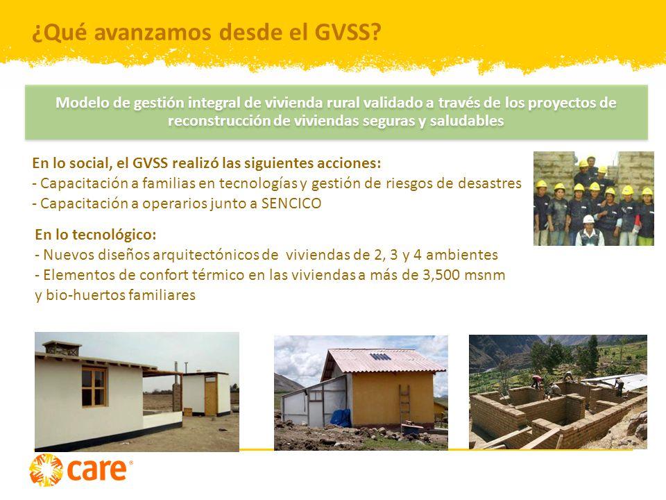 ¿Qué avanzamos desde el GVSS