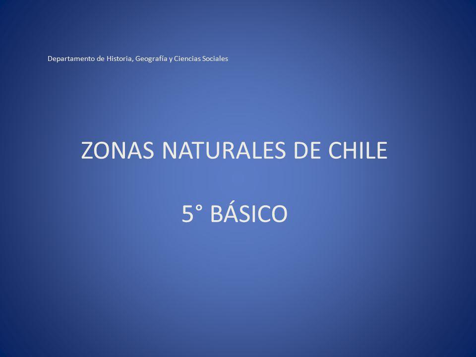 ZONAS NATURALES DE CHILE 5° BÁSICO