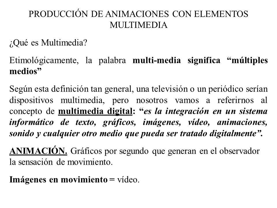 PRODUCCIÓN DE ANIMACIONES CON ELEMENTOS MULTIMEDIA - ppt descargar