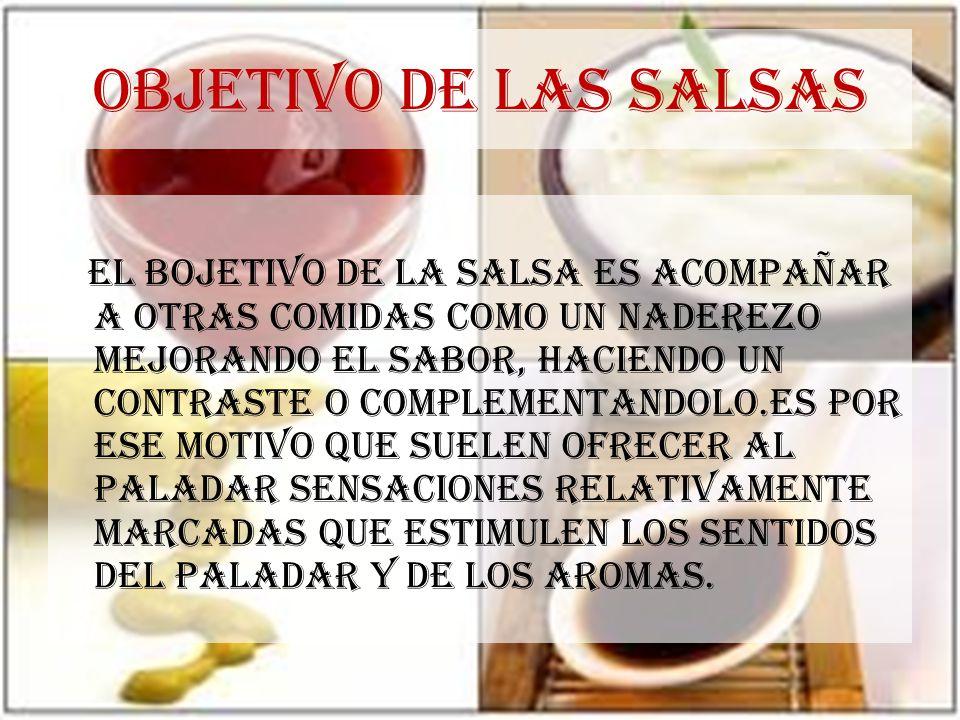 OBJETIVO DE LAS SALSAS