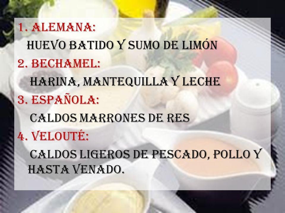 1. ALEMANA: Huevo batido y sumo de limón 2