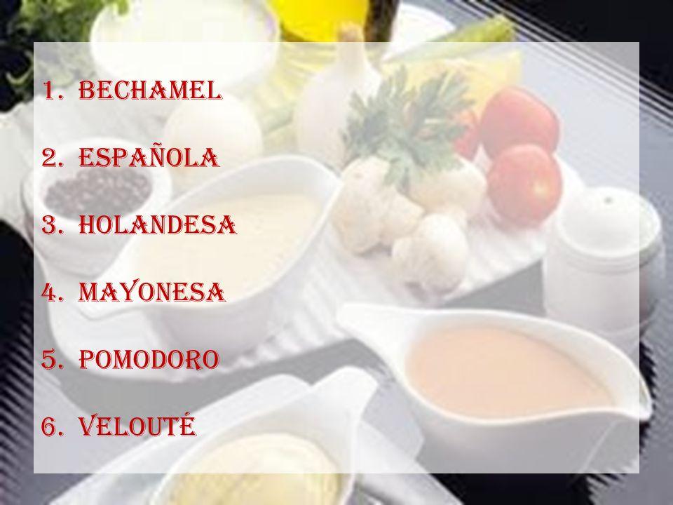 Bechamel Española Holandesa Mayonesa Pomodoro velouté