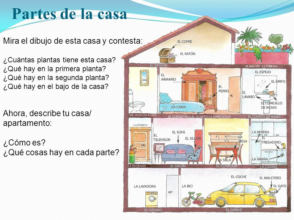 Espa ol ii sesi n 4 describir cosas ppt video online for Mi casa es tu casa online