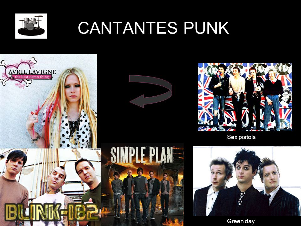 CANTANTES PUNK Sex pistols Green day