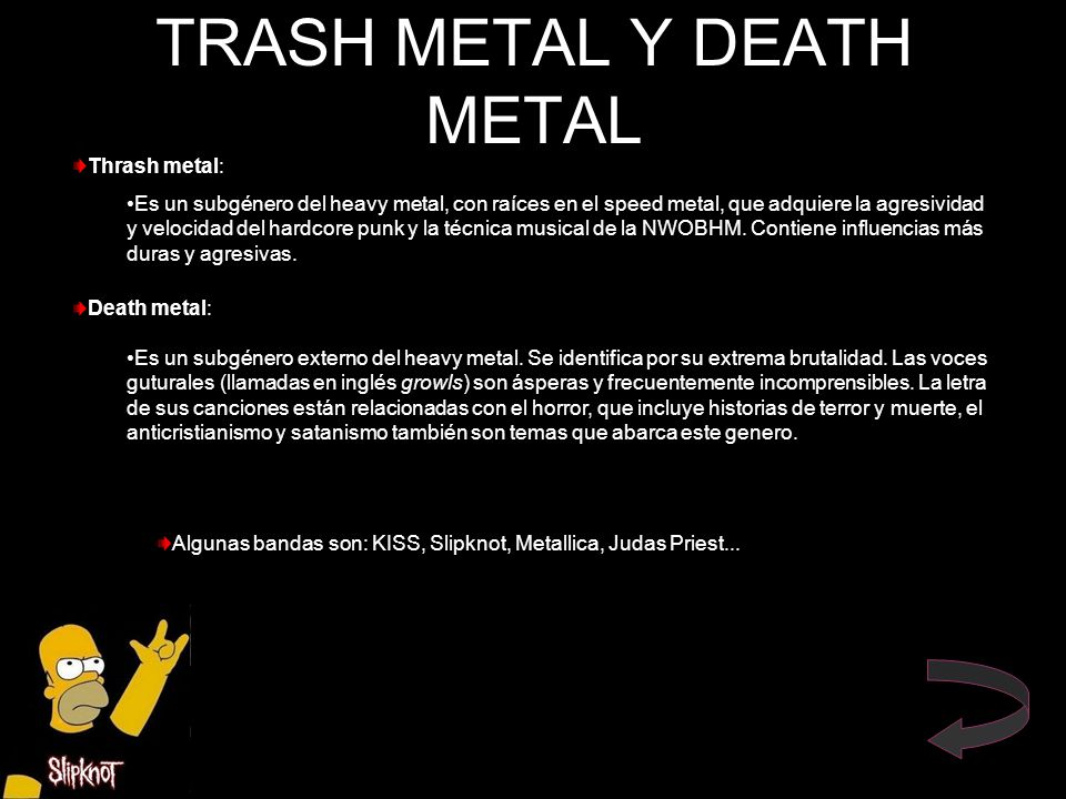TRASH METAL Y DEATH METAL