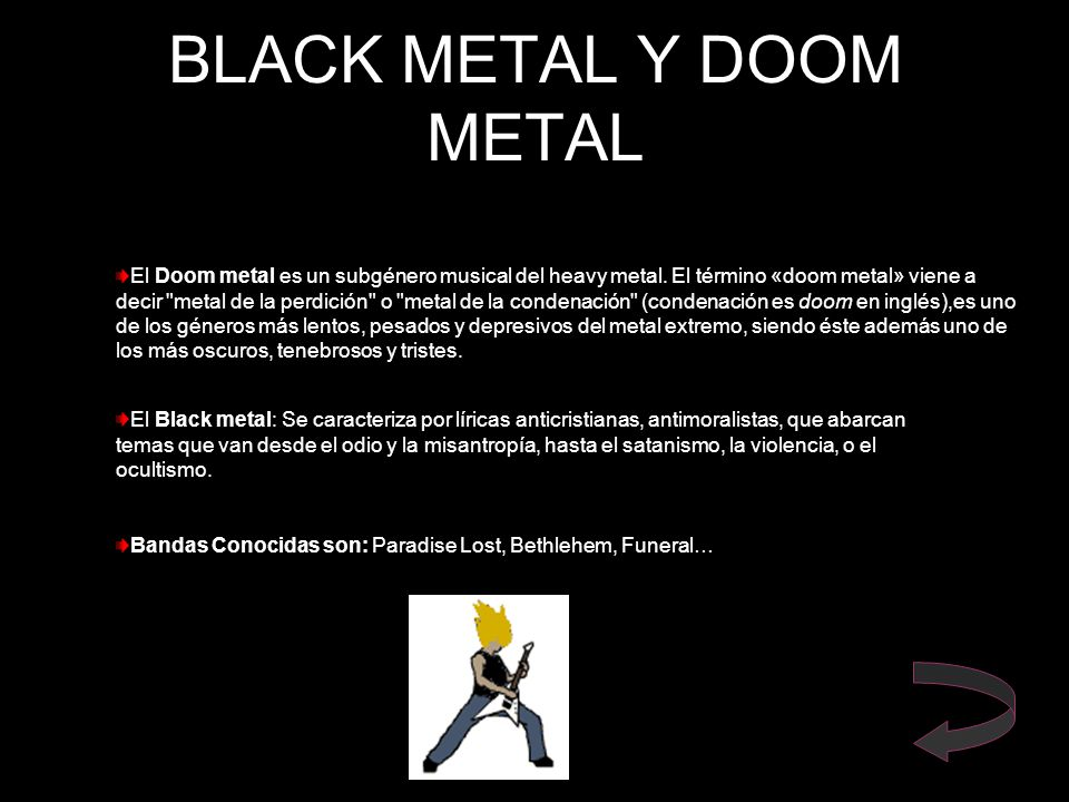 BLACK METAL Y DOOM METAL