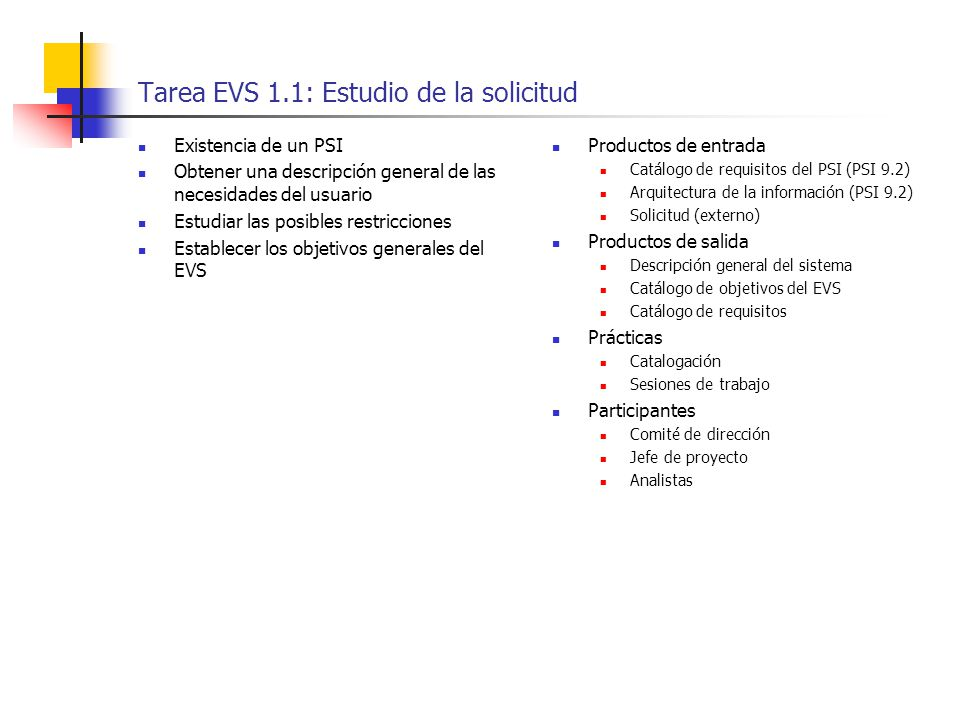 Estudio de viabilidad del sistema evs ppt descargar for Requisitos para estudiar arquitectura