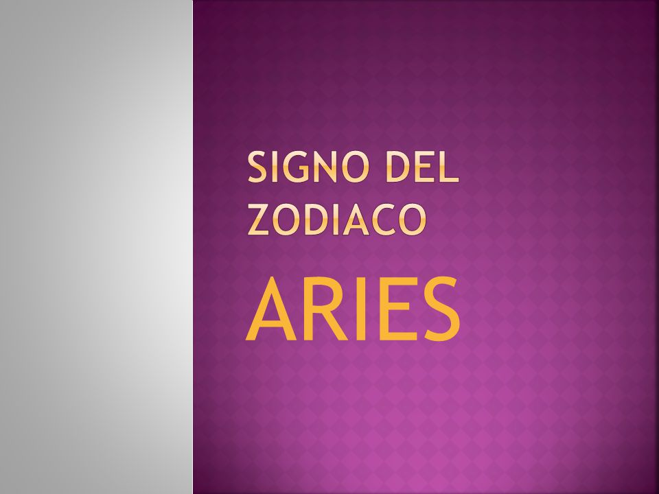 Signo del zodiaco aries ppt descargar - Primer signo del zodiaco ...