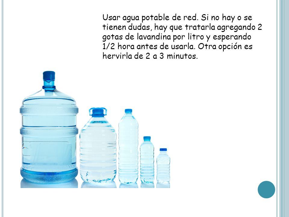Usar agua potable de red