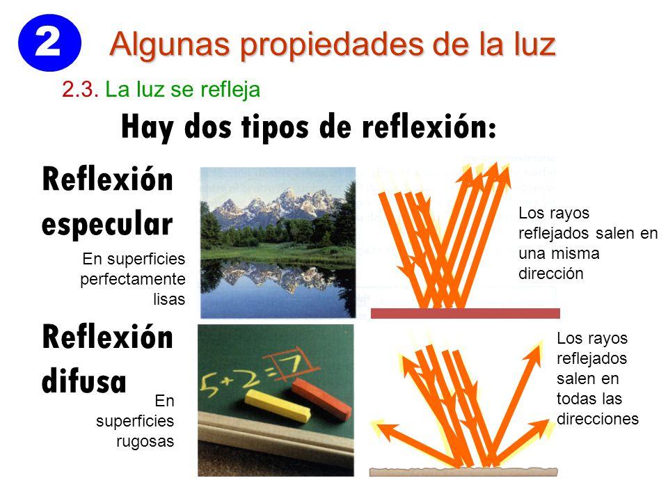 e17b52fae1 2 Hay dos tipos de reflexión: Reflexión especular Reflexión difusa ...