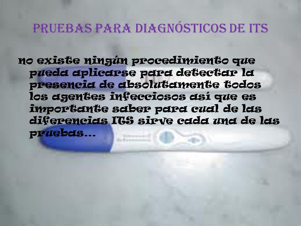 Pruebas para diagnósticos de its