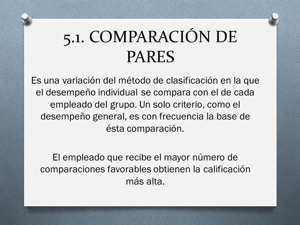 5.1. COMPARACIÓN DE PARES