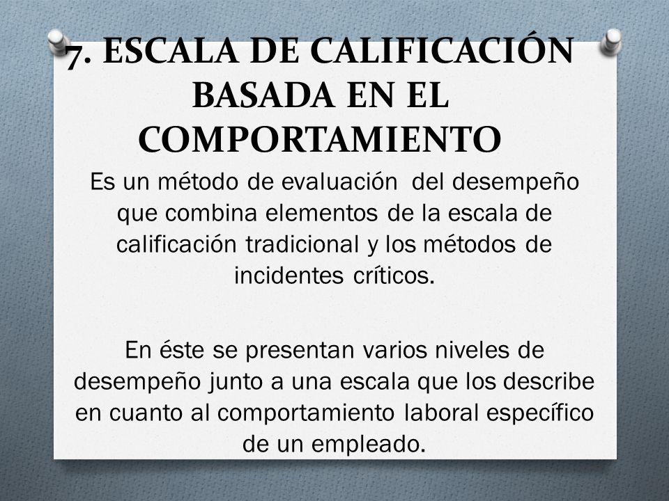 7. ESCALA DE CALIFICACIÓN BASADA EN EL COMPORTAMIENTO