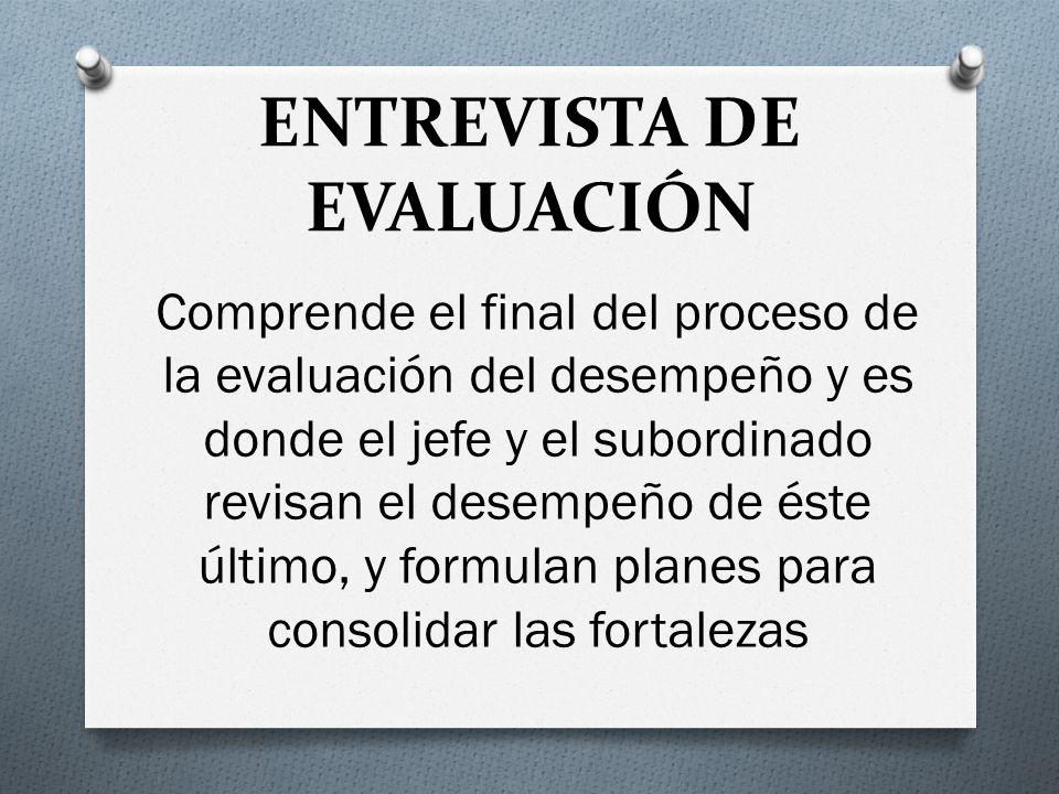 ENTREVISTA DE EVALUACIÓN