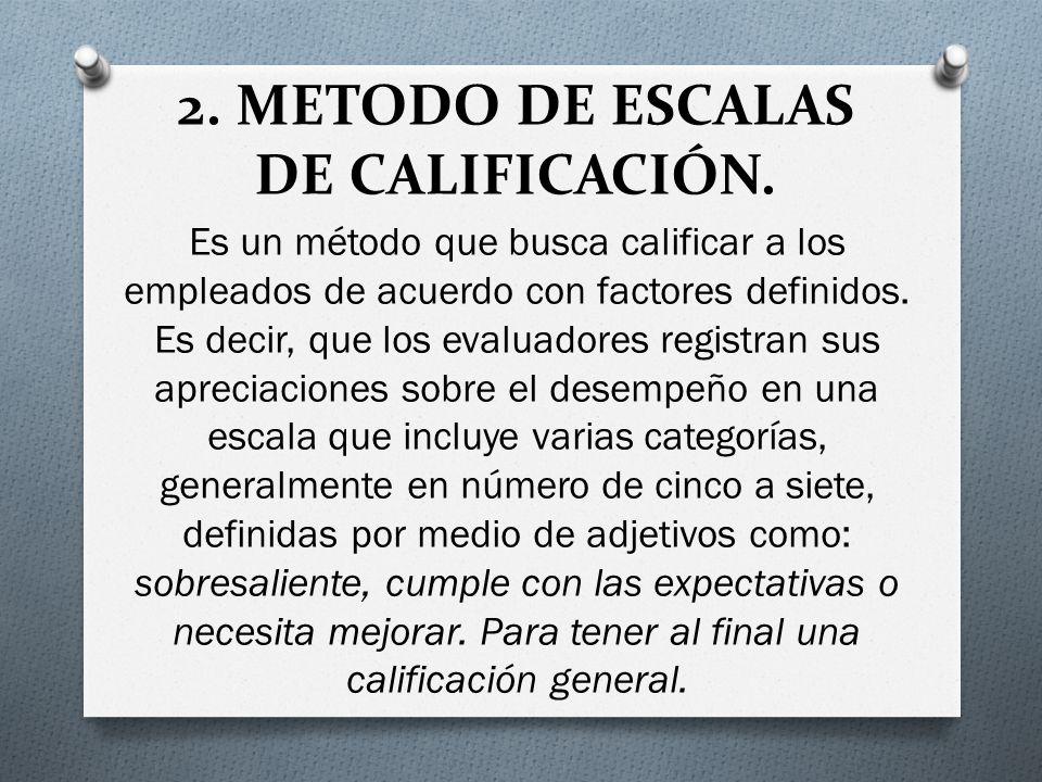 2. METODO DE ESCALAS DE CALIFICACIÓN.