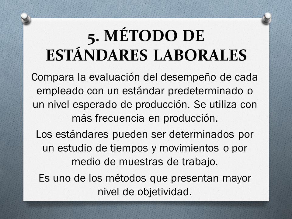 5. MÉTODO DE ESTÁNDARES LABORALES