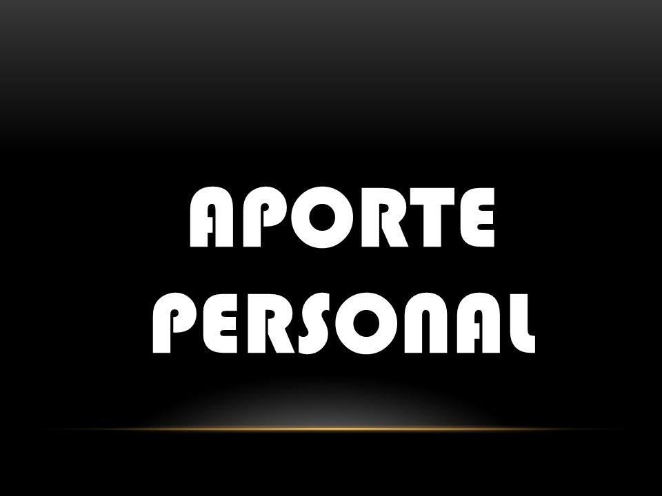 APORTE PERSONAL