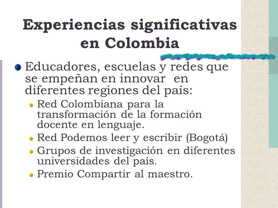 Experiencias significativas en Colombia