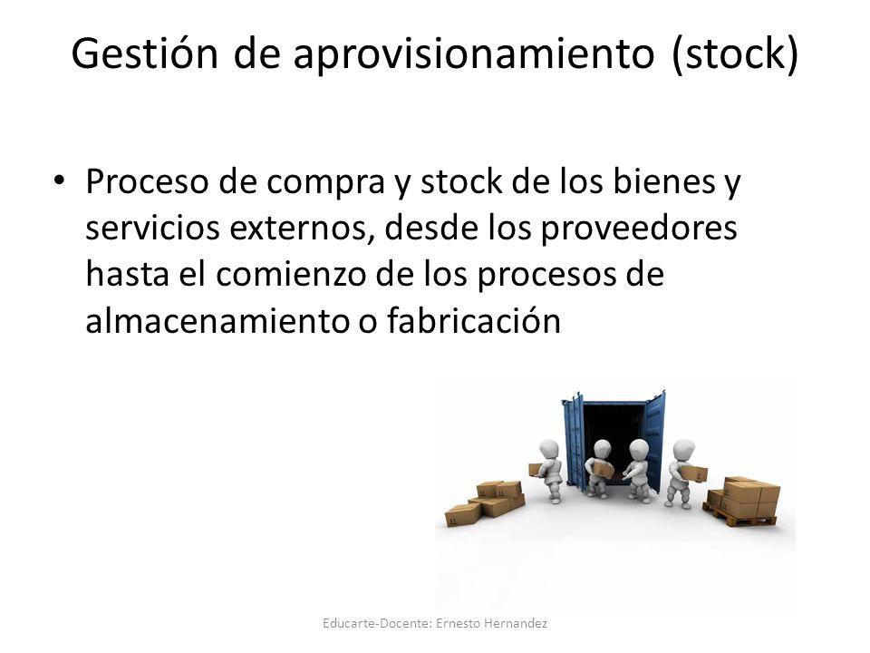 Gestión de aprovisionamiento (stock)