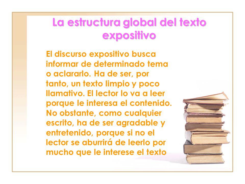 La estructura global del texto expositivo