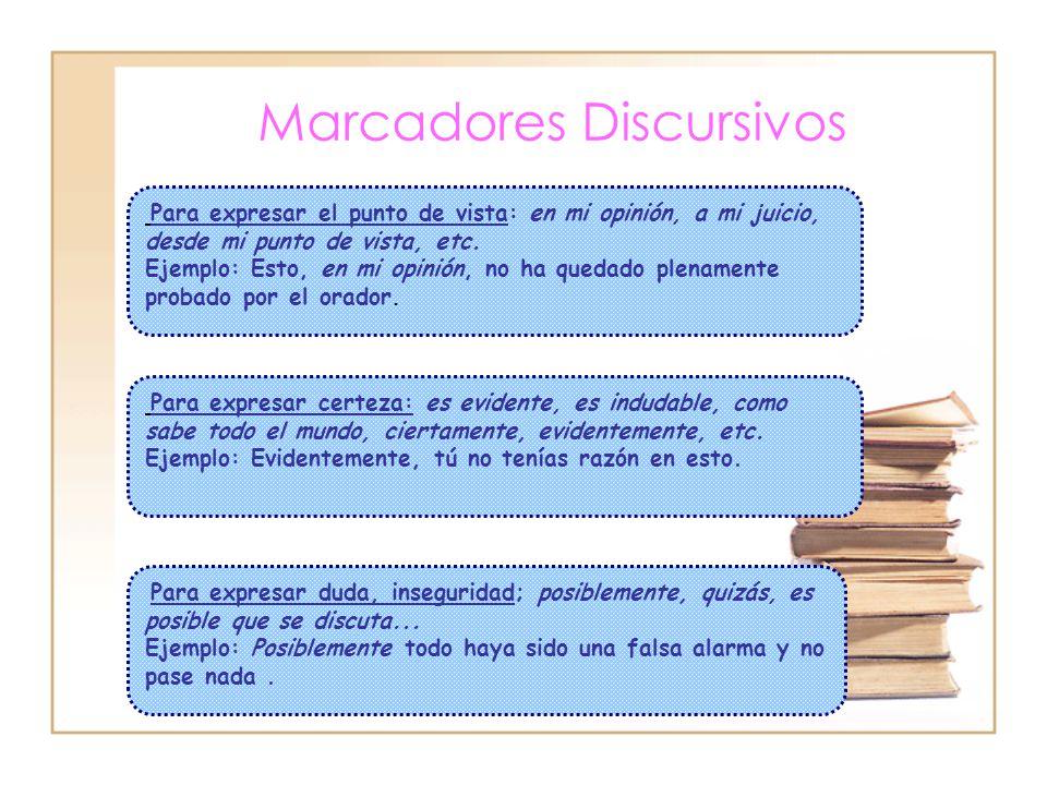 Marcadores Discursivos