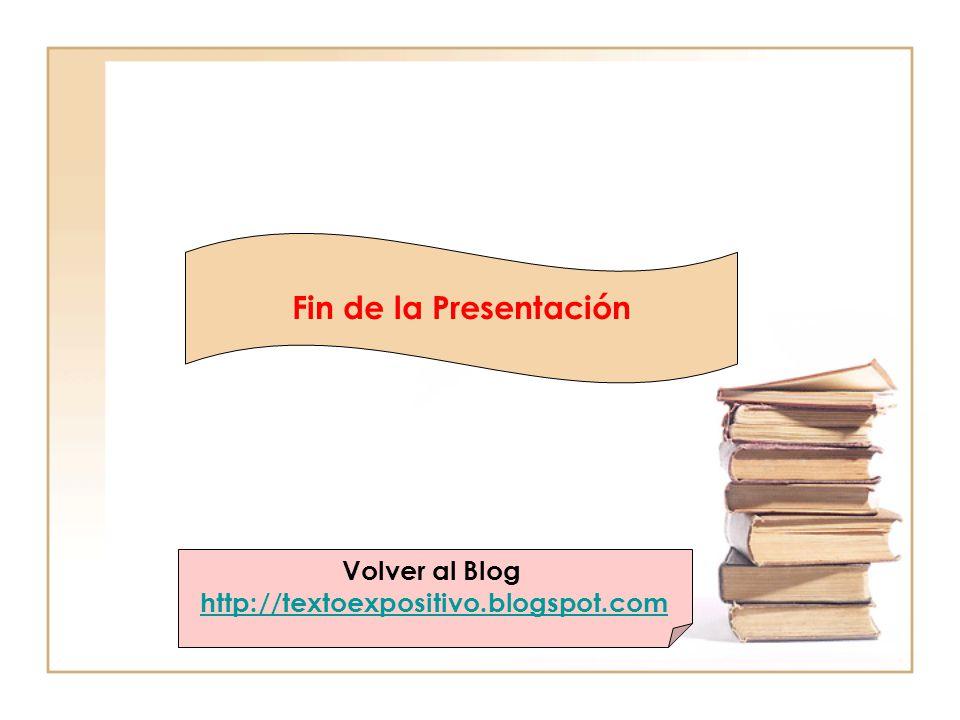 Fin de la Presentación Volver al Blog