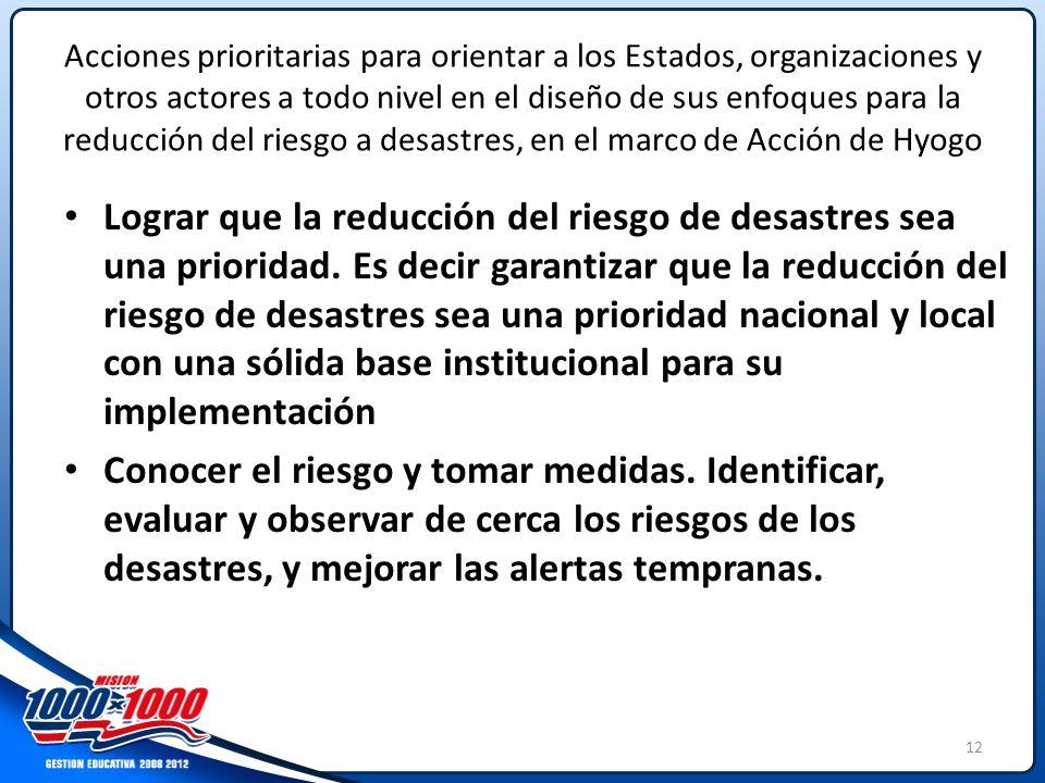 ALIANZAS EN EMERGENCIAS Y GESTIÓN DE RIESGO EN LA EDUCACIÓN - ppt ...