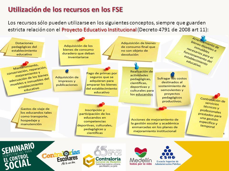 Utilización de los recursos en los FSE