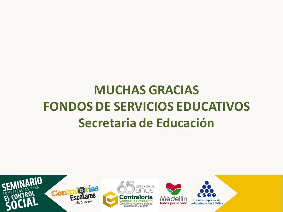 FONDOS DE SERVICIOS EDUCATIVOS Secretaria de Educación