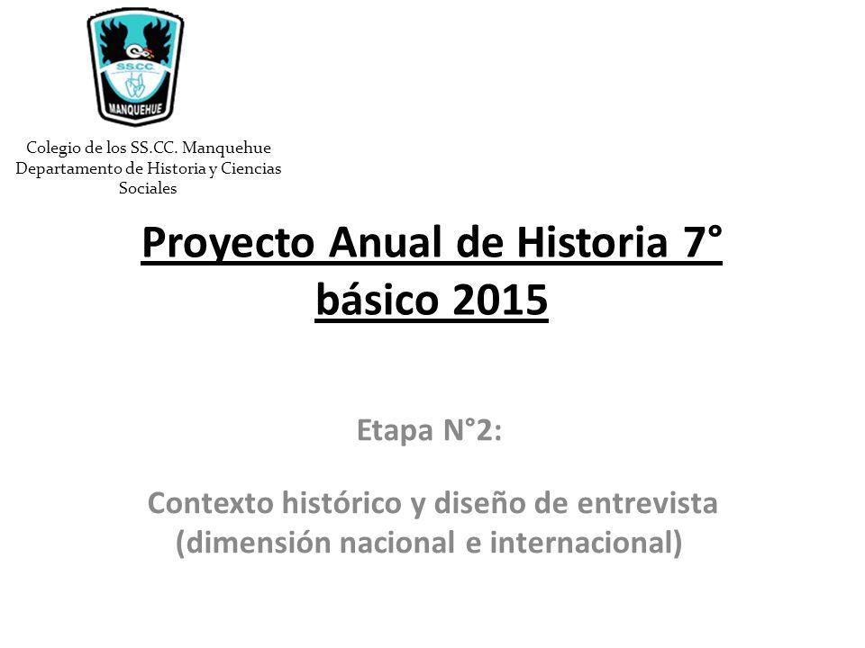 Proyecto Anual De Historia 7 B Sico Ppt Descargar