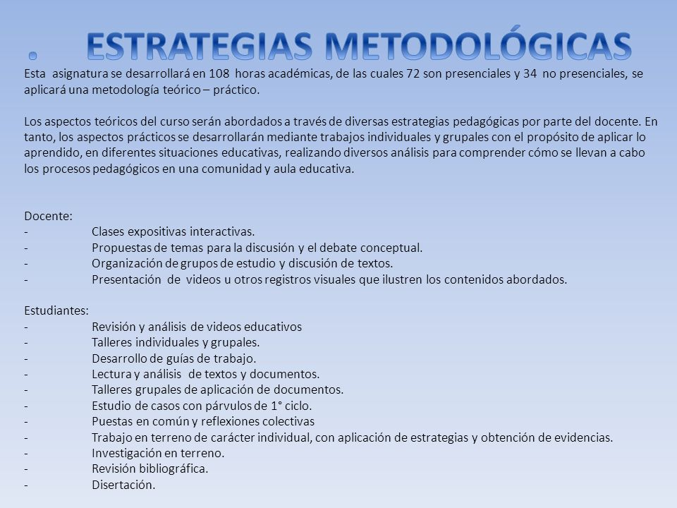 . ESTRATEGIAS METODOLÓGICAS