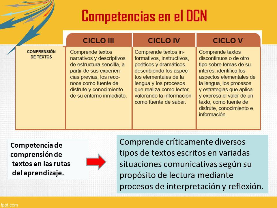 Competencias en el DCN