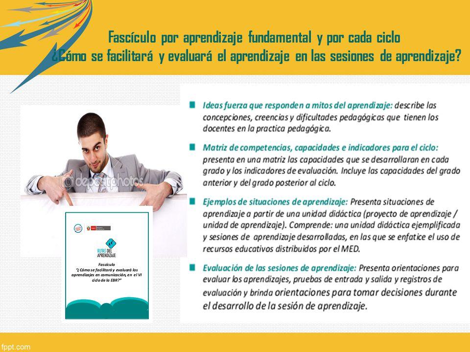 Fascículo por aprendizaje fundamental y por cada ciclo