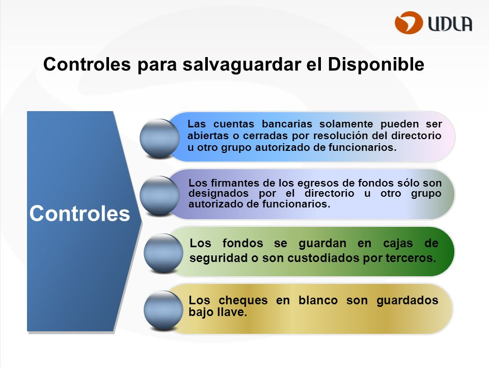 Controles para salvaguardar el Disponible