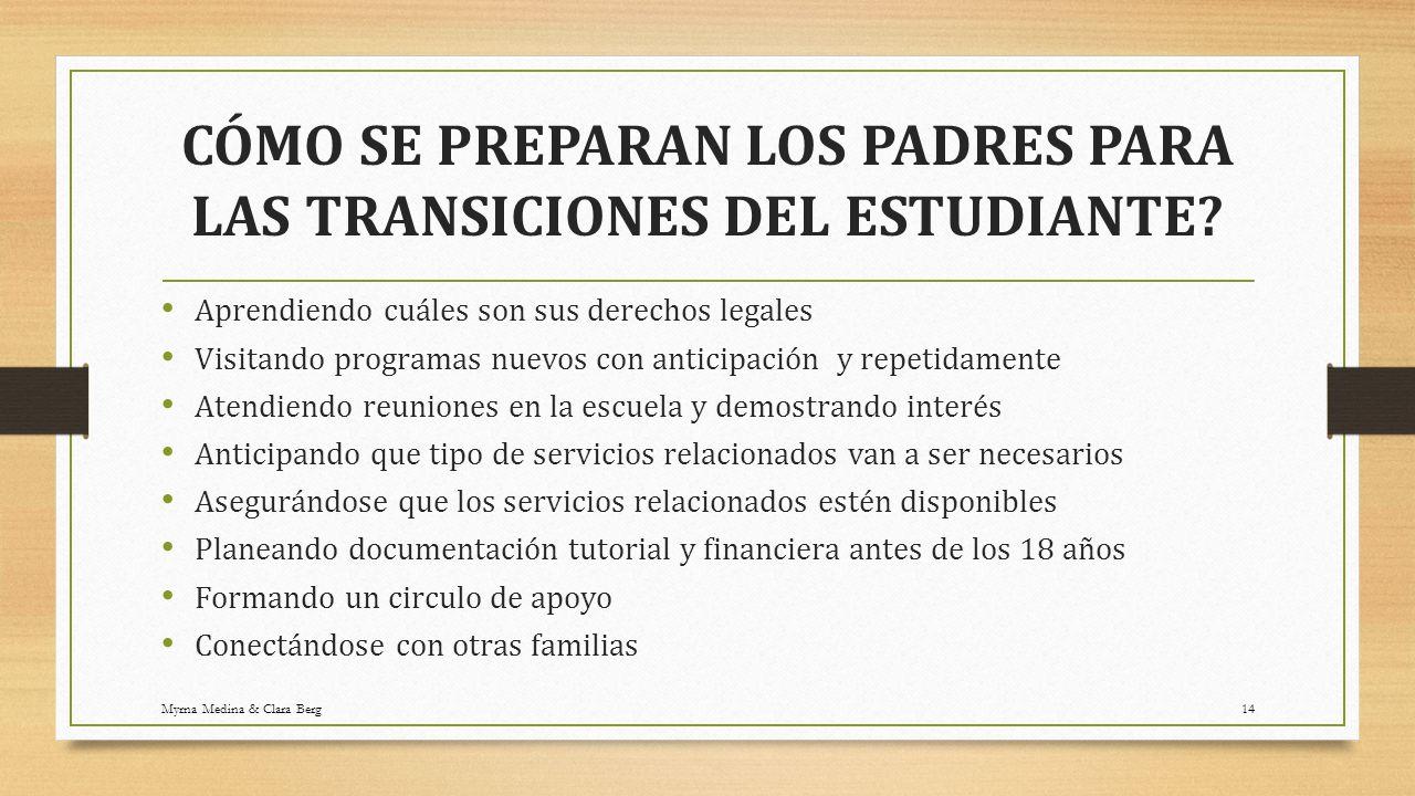 transiciones clara berg especialista de familias ppt