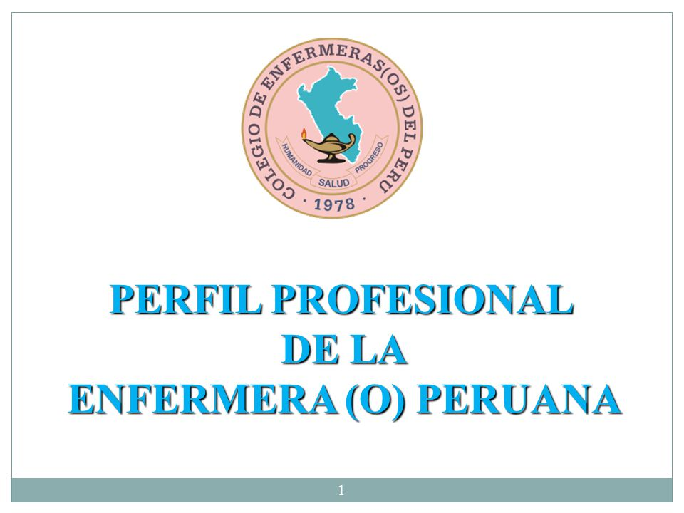 PERFIL PROFESIONAL DE LA ENFERMERA (O) PERUANA