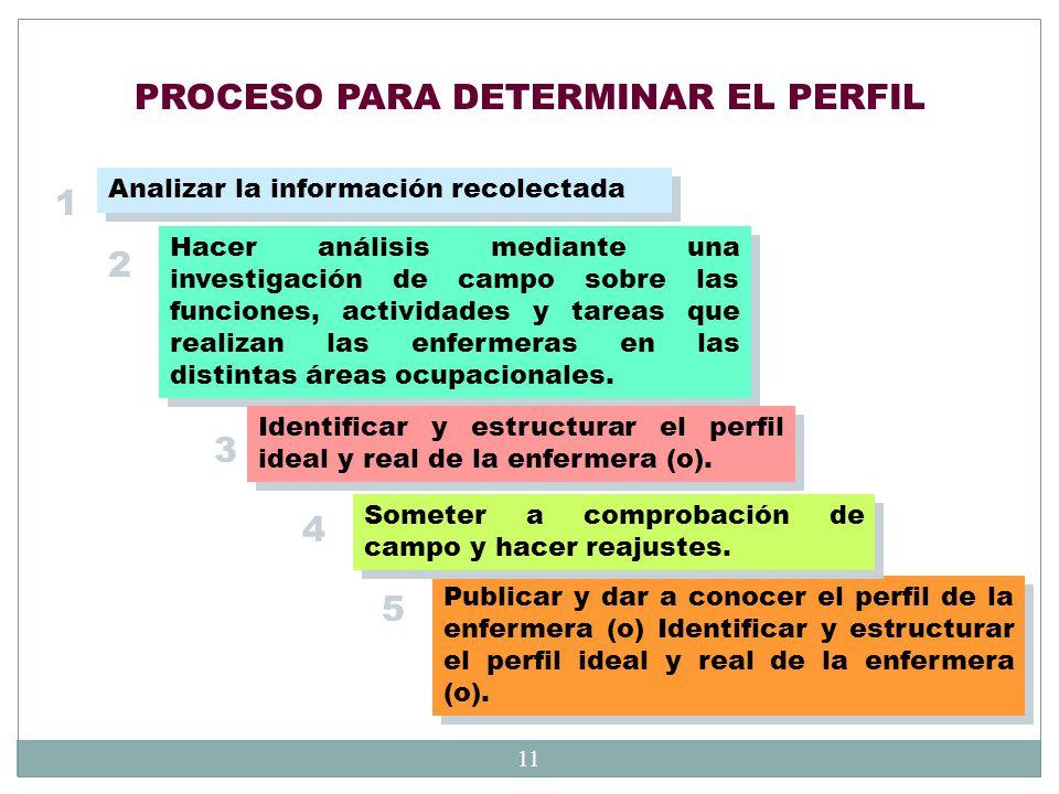 PROCESO PARA DETERMINAR EL PERFIL