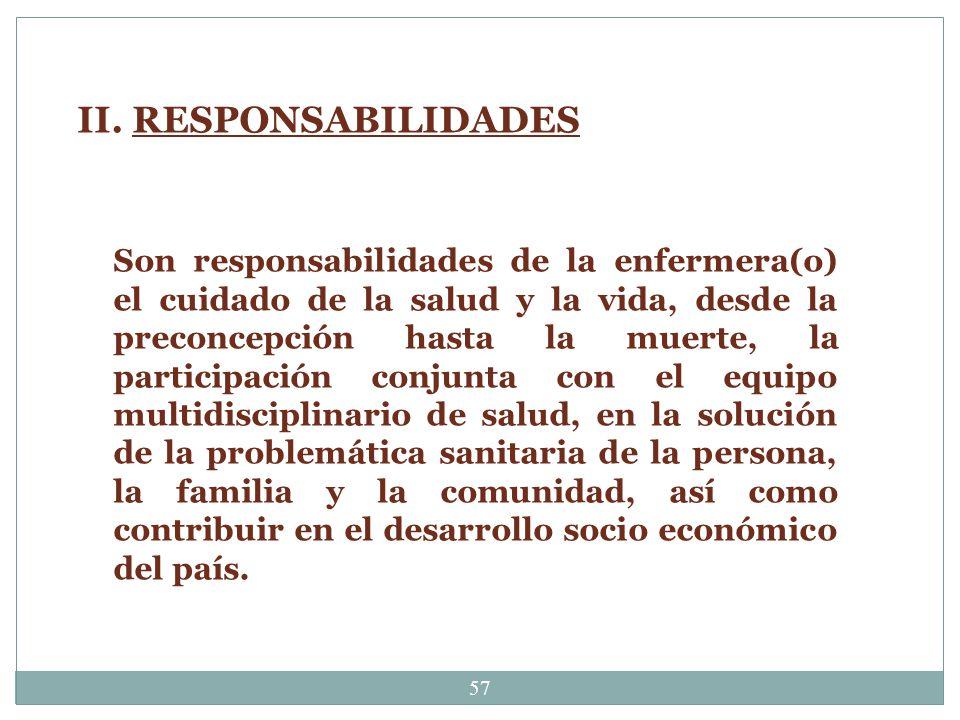 II. RESPONSABILIDADES
