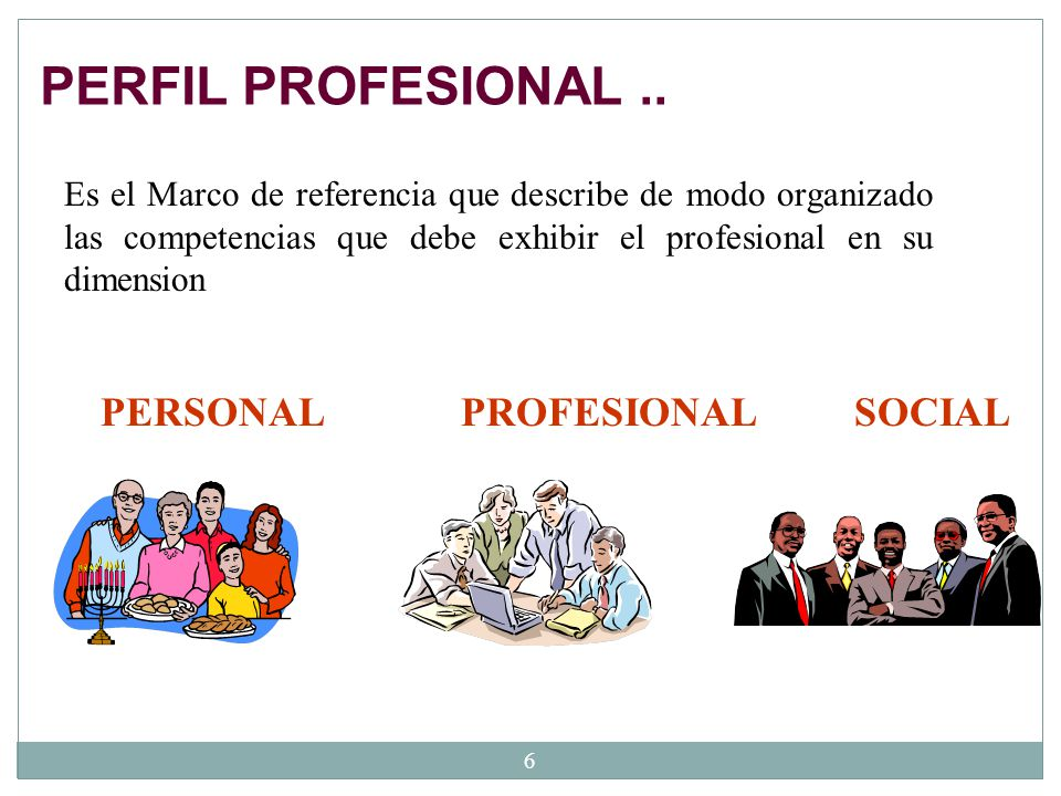 PERFIL PROFESIONAL .. PERSONAL PROFESIONAL SOCIAL