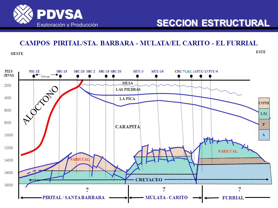 CAMPOS PIRITAL/STA. BARBARA - MULATA/EL CARITO - EL FURRIAL