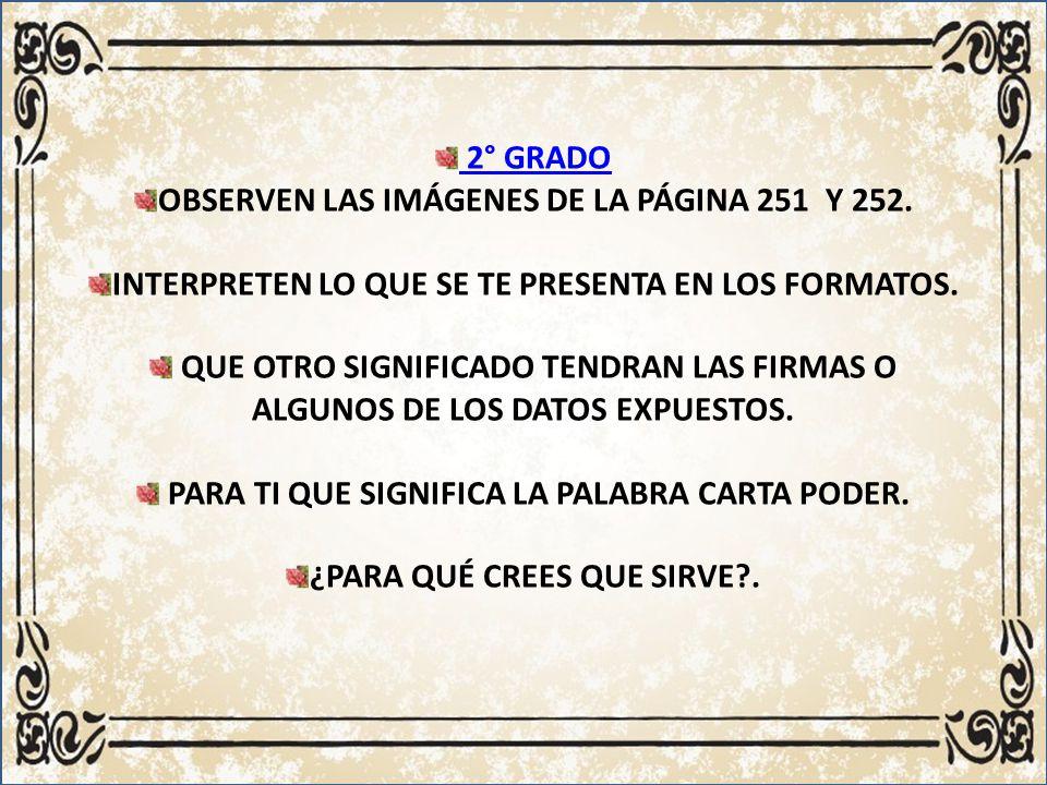 OBSERVEN LAS IMÁGENES DE LA PÁGINA 251 Y 252.