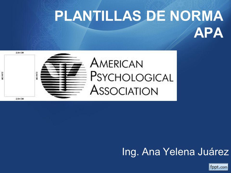PLANTILLAS DE NORMA APA - ppt video online descargar