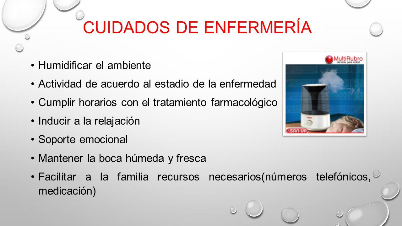 Signos s ntomas y cuidados de enfermer a en pacientes terminales ppt video online descargar - Humidificar el ambiente ...
