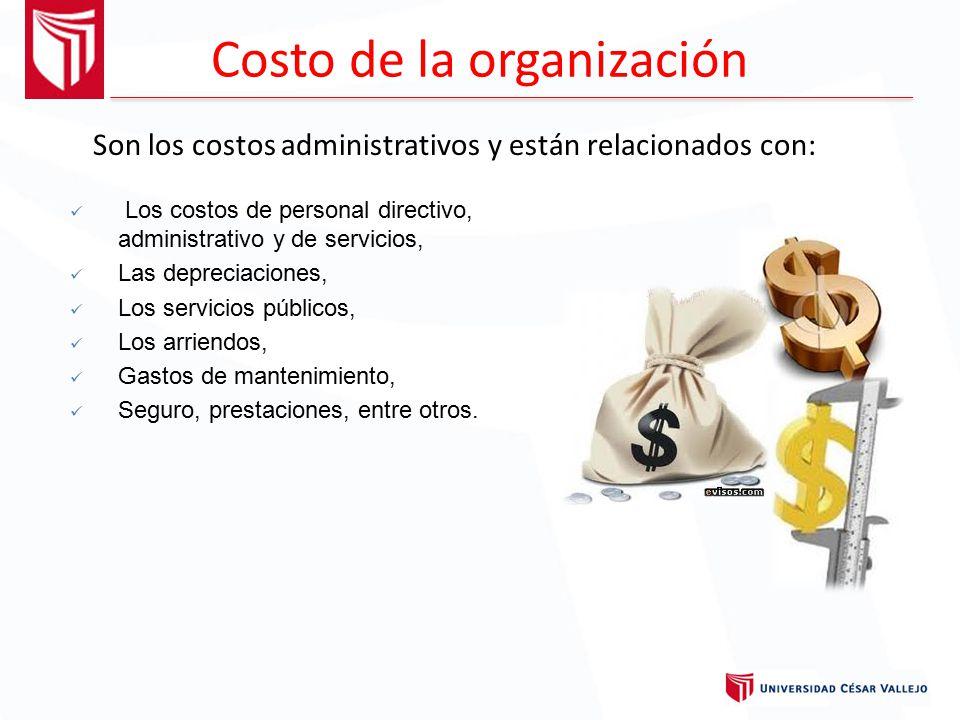 Costo de la organización