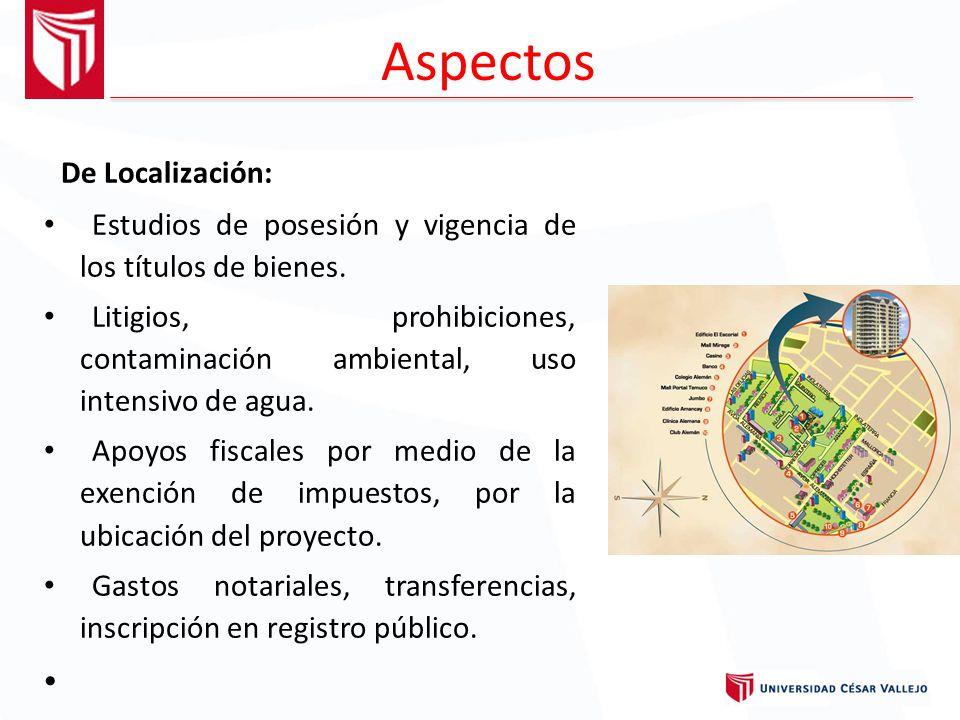 Aspectos De Localización: